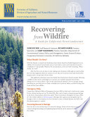 Recovering From Wildfire A Guide For California S Forest Landowners Recovering From Wildfire A Guide For California S Forest Landowners book