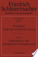 Predigten. Erste bis Vierte Sammlung (1801-1820) mit den Varianten der Neuauflagen (1806-1826)