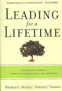 Leading For A Lifetime : our oldest in the shadow of the depression...