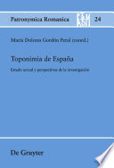 Toponimia De Espana / Toponymy of Spain