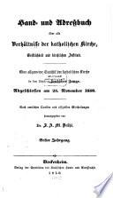 Hand- und Adreßbuch über alle Verhältnisse der katholischen Kirche, Geistlichkeit und kirchlichen Institute