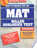 Barron s how to Prepare for the MAT  Miller Analogies Test