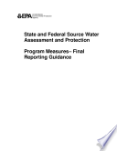State And Federal Source Water Assessment And Protection Program Measuresfinal Reporting Guidance