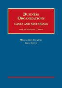 Business Organizations  Cases and Materials   Casebookplus