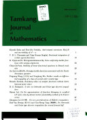 Tamkang Journal of Mathematics