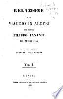 Relazione di un viaggio in Algeri