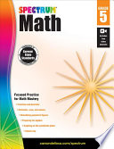 Spectrum Math Workbook  Grade 5