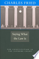 Saying what the Law is