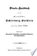 Staats-Handbuch für die Herzogthümer Schleswig-Holstein