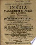Dispvtatio Medica Inauguralis De Inedia Magnorum Morborum Remedio