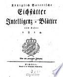 Königlich-Baierisches Intelligenzblatt für den Ober-Donaukreis