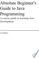 Absolute Beginner S Guide To Java Programming