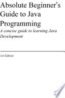 Absolute Beginner s Guide to Java Programming
