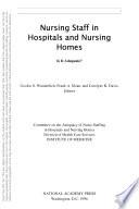 Nursing Staff In Hospitals And Nursing Homes