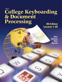 Gregg College Keyboarding & Document Processing (GDP), Lessons 1-60, Student Text