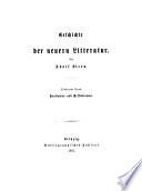 Geschichte der neuern litterature