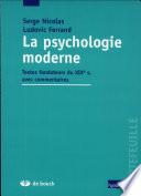 La psychologie moderne