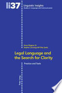 Legal Language and the Search for Clarity