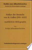 Notker der Deutsche von St. Gallen (950-1022)