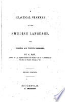 A practical grammar of the Swedish language