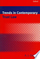 Trends In Contemporary Trust Law