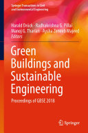 Green Buildings and Sustainable Engineering Book