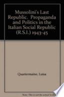 Mussolini s Last Republic