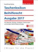 Taschenlexikon Beihilferecht Ausgabe 2017
