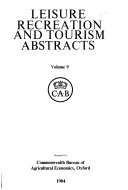 Leisure, Recreation, and Tourism Abstracts