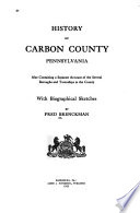 History of Carbon County  Pennsylvania