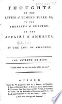 Thoughts on the Letter of Edmund Burke     The seventh edition