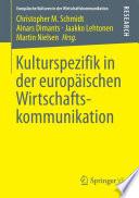 Kulturspezifik in der europ  ischen Wirtschaftskommunikation
