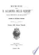 Memorie della R  Accademia delle scienze dell Istituto di Bologna  Classe di scienze fisiche