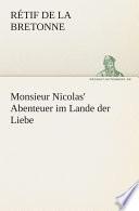 Monsieur Nicolas' Abenteuer Im Lande Der Liebe : tredition aus hamburg veroffentlicht in...