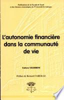 L autonomie financi  re dans la communaut   de vie
