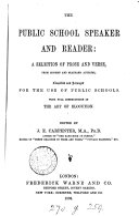 Book The public school speaker and reader, ed. by J.E. Carpenter