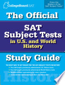 The Official SAT Subject Tests in U S    World History Study Guide