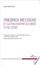 Friedrich Nietzsche Et La Philosophie Du Droit Et De L Tat