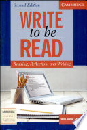 Write to be Read Student s Book