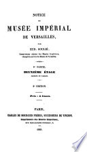 Notice du Mus  e Imp  rial de Versailles  ptie  Deuxi  me   tage
