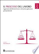 Il processo del lavoro  Aggiornato alla Riforma Fornero e alle prime applicazioni giurisprudenziali
