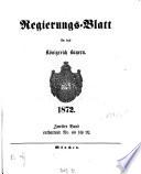 Regierungsblatt f  r das K  nigreich Bayern
