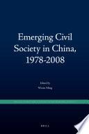 Emerging Civil Society in China  1978 2008