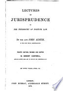 Lectures on Jurisprudence