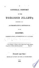 A General History of the Tobacco Plant