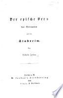 Der Epische Vers Der Germanen Und Sein Stabreim