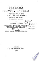 The Early History of India  2nd Ed