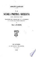 La scuola poetica siciliana del secolo XIII