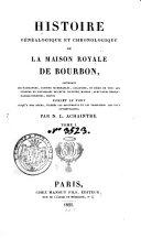Book Histoire genealogique et chronologique de la maison royale de Bourbon