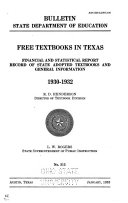 Free Textbooks in Texas